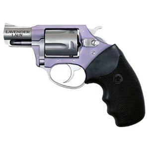 """Charter Arms Lavender Lady Revolver .32 H&R 2"""" Barrel 5 Rounds Aluminum Frame Black Synthetic Grips Lavender Finish 53240"""