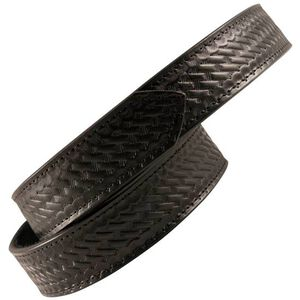 Boston Leather 6520 Reversible Garrison Sam Browne Inner Belt Size Small Hook and Loop Velcro Basket Weave Leather Black 6520-3-S