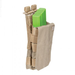 5.11 Tactical AR15 Bungee/Cover Single Rifle Magazine Pouch MOLLE Nylon Sandstone 56156