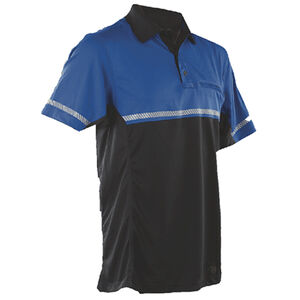 Tru-Spec  24-7 Mens Bike Performance Polo Shirt 2X-Large with Reflective Tape Royal Blue