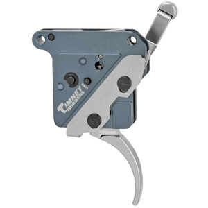 """Timney Trigger Remington 700 """"The Hit"""" Trigger Drop In Replacement Trigger Adjustable Pull Weight Curved Trigger Shoe Aluminum Housing Nickel Finish"""