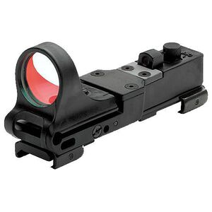 C-MORE Railway Click Red Dot Sight 8 MOA Weaver Picatinny Mount Polymer Black CRWB-8