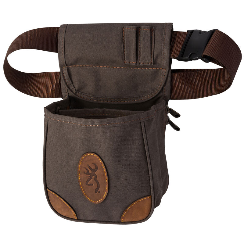 Browning Lona Canvas/Leather Shell Pouch Flint