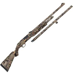 """Mossberg 500 Combo Field/Deer Pump Action Shotgun 20 Gauge 26"""" Vent Rib Barrel and 24"""" Fully Rifled Barrel 3"""" Chambers 5 Rounds Synthetic Stock Mossy Oak Break Up Country"""