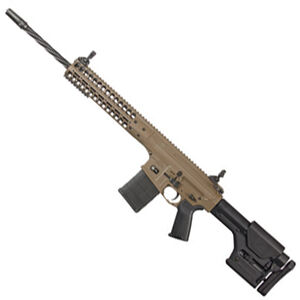 """LWRC R.E.P.R MKII Semi Auto Rifle 7.62 NATO 20"""" Spiral Fluted Barrel 20 Rounds Free Float Hand Guard Magpul Stock and Grip Flat Dark Earth"""