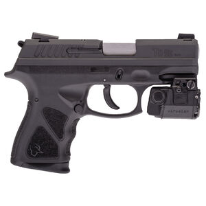 "Taurus TH 9C Semi Auto Pistol with Viridian Laser 9mm Luger 3.54"" Barrel 13 Rounds Novak Sights Black Frame Matte Black Slide"
