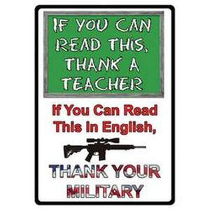 "River's Edge Products ""If You Can Read..."" Sign Tin 11 by 16 Inches 1511"