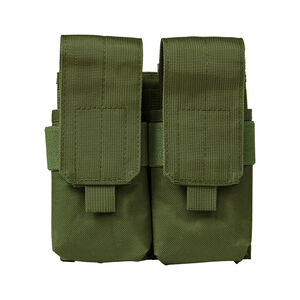 NcSTAR AR-15/AK-47 Quad Magazine Pouch Flap Closure MOLLE Compatible Nylon Green