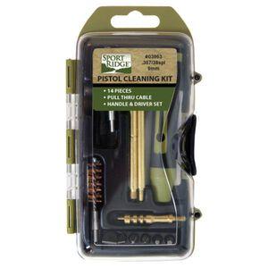 Sport Ridge  Field 38/357/9mm Pistol Cleaning Kit 14 Piece Plastic Case