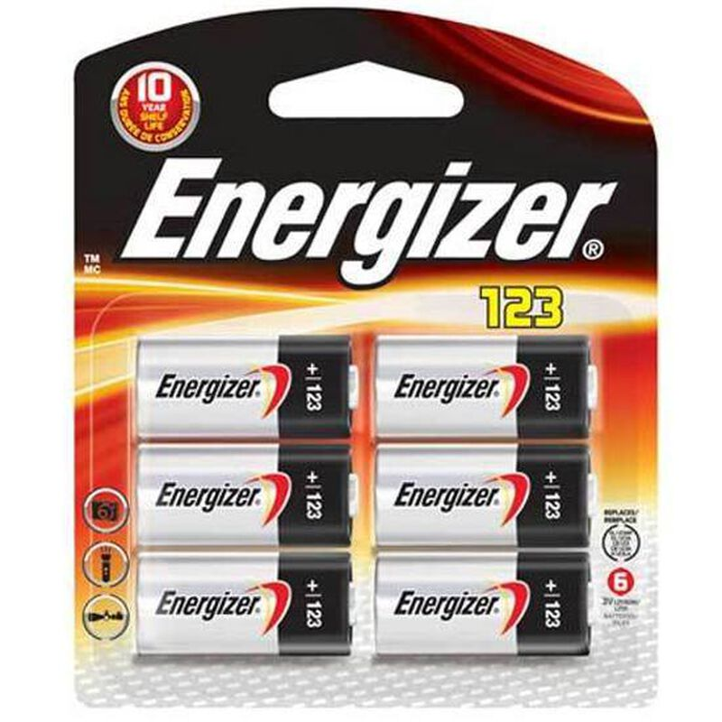 Energizer Specialty Lithium Photo 123 Battery 3 Volt 6 Pack