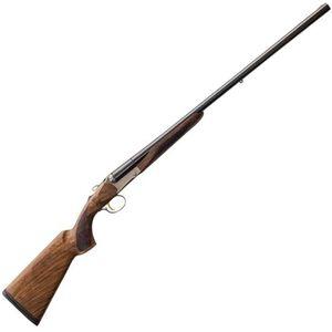 """Charles Daly 512 Field 12 Gauge SxS Break Action Shotgun 28"""" Barrels 3"""" Chambers 2 Rounds Extractors Walnut Stock Matte Blued"""