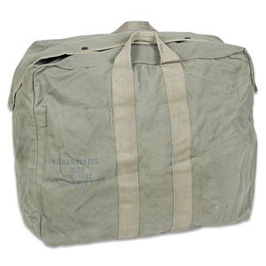 "Original U.S. Flyers Kit Bag Used Rugged Canvas Good Condition 22x11x18"" Difficult to Find!"