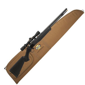 """CVA Wolf Muzzleloader Rifle with KonusPro 3-9×32 Scope and Case Combo Break Action In-Line .50 Caliber 209 Primer Ignition 24"""" SS Nitride Treated Barrel Composite Stock Black"""