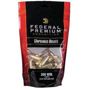 Federal Gold Medal Unprimed Brass Cases .308 Winchester 50 Count Per Bag