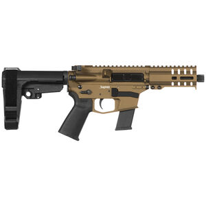 "CMMG Banshee 300 MkG .45 ACP AR-15 Semi Auto Pistol 5"" Barrel 13 Rounds Uses GLOCK Style Magazines RML4 M-LOK Handguard CMMG Micro/CQB RipBrace Burnt Bronze Finish"