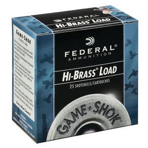 """Federal Game Shok Upland Hi-Brass Load 16 Gauge Ammunition 2-3/4"""" #4 Lead Shot 1-1/8 Ounce 1295 fps"""
