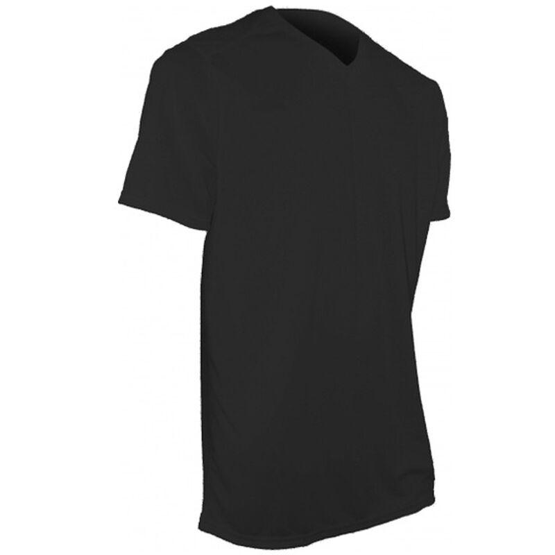 XGO Phase 1 Performance SS V-Neck T-Shirt Med Polyester Black