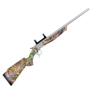"""CVA Scout V2 Standard Model Single Shot Rifle .44 Remington Magnum 22"""" Barrel 1 Round Scope Mount Synthetic Stock Realtree Xtra Green Stainless Steel CR4432S"""