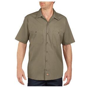Dickies Short Sleeve Industrial Permanent Press Poplin Work Shirt Extra Large Tall Desert Sand LS535DS