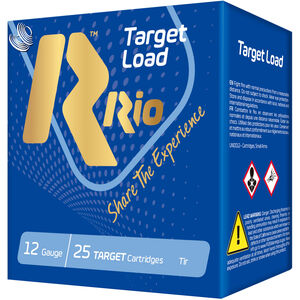 "RIO Ammunition Target Load Trap-28 12 Gauge Ammunition 250 Rounds 2-3/4"" Shell #8 Lead Shot 1oz 1210fps"