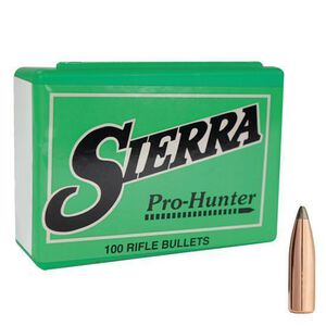 "Sierra .30 Caliber .308"" Diameter 180 Grain Pro-Hunter Jacketed Soft Point Rifle Bullets 100 Count 2150"