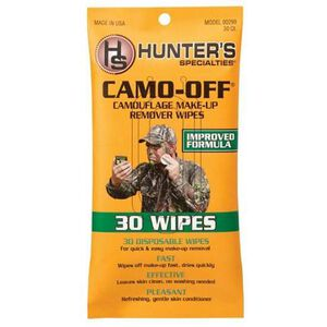 Hunter's Specialties Camo Off Camo Disposable Makeup Remover Wipes 30 Pack