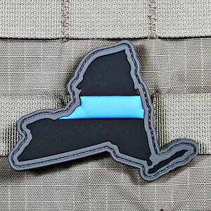"""Violent Little Machine Shop """"Thin Blue Line"""" State of New York Morale Patch"""
