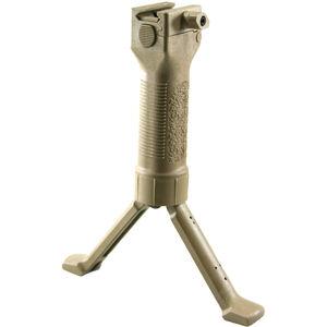 Grip Pod AR15 V2 Forward Grip/Bipod Steel Legs Thumb Tan