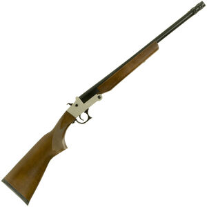 "Hatfield SGL Single Shot Youth 20 Gauge Break Action Shotgun 20"" Barrel 3"" Chamber 1 Round Walnut Stock Black Finish"