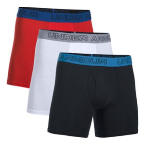 Under Armour Charged Cotton Men's Boxer Briefs XXL Black with Mixed Waist Bands 3 Pack