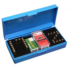 MTM Case-Gard SB-200 Series Flip Top Ammo Box 200 Rounds .22LR/.25Long/.22WMR/.17 HMR/17 Mach 2 Polymer Blue