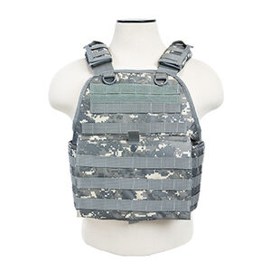 NcSTAR Plate Carrier Vest Size Med to 2XL Nylon Digital Camo