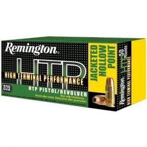 Remington .357 Magnum HTP Ammunition 50 Rounds, SJHP, 180 Grains