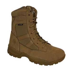 """Smith & Wesson Breach 2.0 Waterproof 9"""" Side Zip Boot 8W Coyote"""