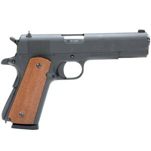 "American Tactical Imports HGA FX45 1911 Semi Automatic Pistol .45 ACP 5"" Barrel 8 Round Capacity Mahogany Grips Blued Finish ATIGFX45MIL"