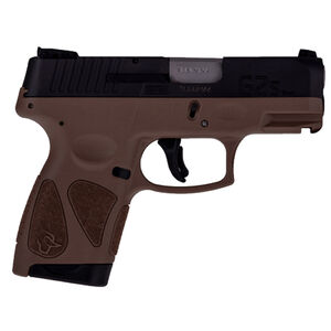 "Taurus G2S Slim .40S&W Semi Auto Pistol 3.2"" Barrel 6 Rounds 3 Dot Sights Matte Black Slide/Tan Frame"