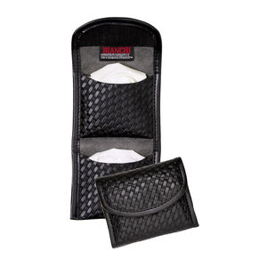 Bianchi 7928 Flat Glove Pouch Hidden Snap Accumold Hi-Gloss Black 22963