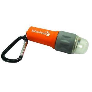 Ultimate Survival Technologies SplashFlash LED Flashlight 25 Lumens 1x AAA Battery Carabineer Clip ABS Plastic Body Orange 20-17001-08