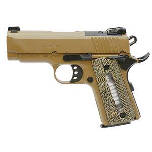 "EAA GiRSAN MC1911SC Ultimate Officer Model 9mm Luger Semi Auto Pistol 3.4"" Barrel 7 Rounds Adjustable Rear Sight Ambidextrous Safety Flat Dark Earth Finish"