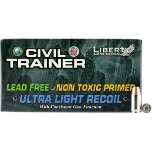 Liberty Ammunition Civil Trainer .380 ACP Ammunition 50 Rounds 65 Grain Lead Free Frangible Round 1200fps