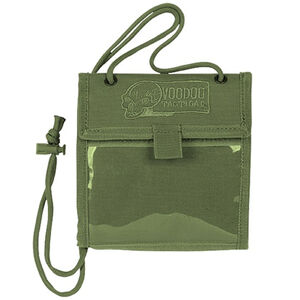 Voodoo Tactical Neck Pouch Wallet Nylon OD Green 20-011504000