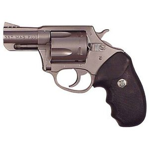 """Charter Arms Mag Pug Revolver .357 Magnum 2.2"""" Barrel 5 Rounds Rubber Grips Stainless Steel Finish 73520"""