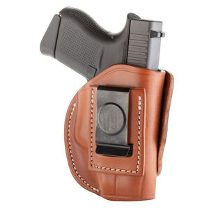 1791 Gunleather 4 Way WH-2 Multi-Fit IWB/OWB Concealment Holster for .380 ACP Semi Auto Models Right Hand Draw Leather Classic Brown