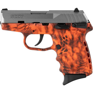 """SCCY CPX-1 9mm Luger Subcompact Semi Auto Pistol 3.1"""" Barrel 10 Rounds Ambidextrous Safety Kryptek Inferno Polymer Frame with Stainless Slide Finish"""