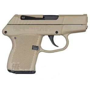 "Kel-Tec P-3AT Semi Auto Handgun .380 ACP 2.75"" Barrel 6 Rounds Tan Polymer Grip Steel Slide Tan"