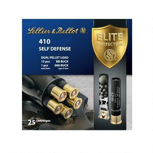 "Sellier & Bellot .410 Bore 3.00"" 000 Buck 15 Pellet 25 Rounds"