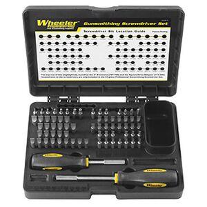 Wheeler Engineering 72-Piece Professional Gunsmithing Screwdriver Set 776737