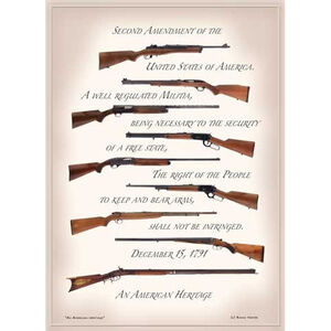"Open Road Brands ""Second Amendment"" NRA Embossed Tin Sign 13""x18"""