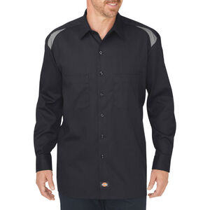 Dickies Men's Long Sleeve Performance Shop Shirt XL Tall Black/Smoke