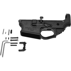 Spike's Tactical AR-15 Gen II Billet Lower Receiver with Parts Kit Multi Caliber Ambidextrous Aluminum Black Anodized Finish STLB200